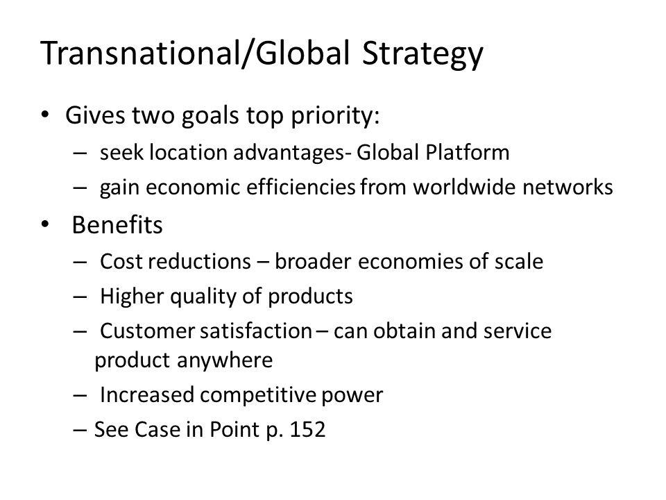 Transnational/Global Strategy