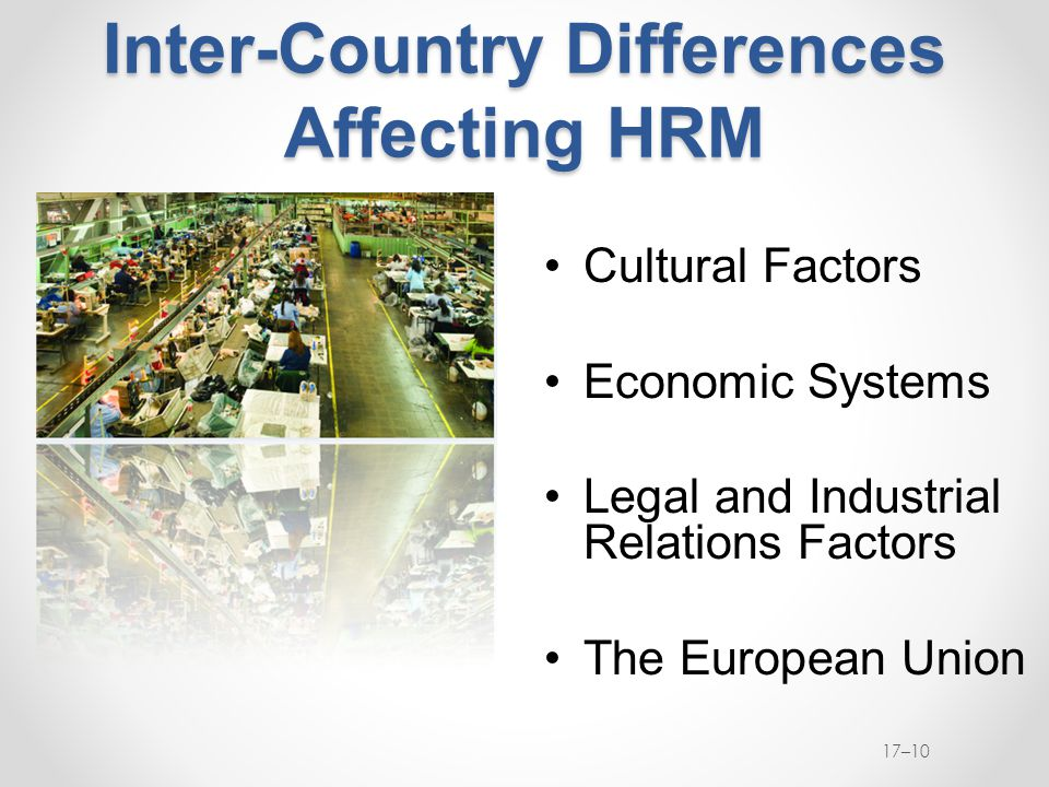 Inter-Country Differences Affecting HRM