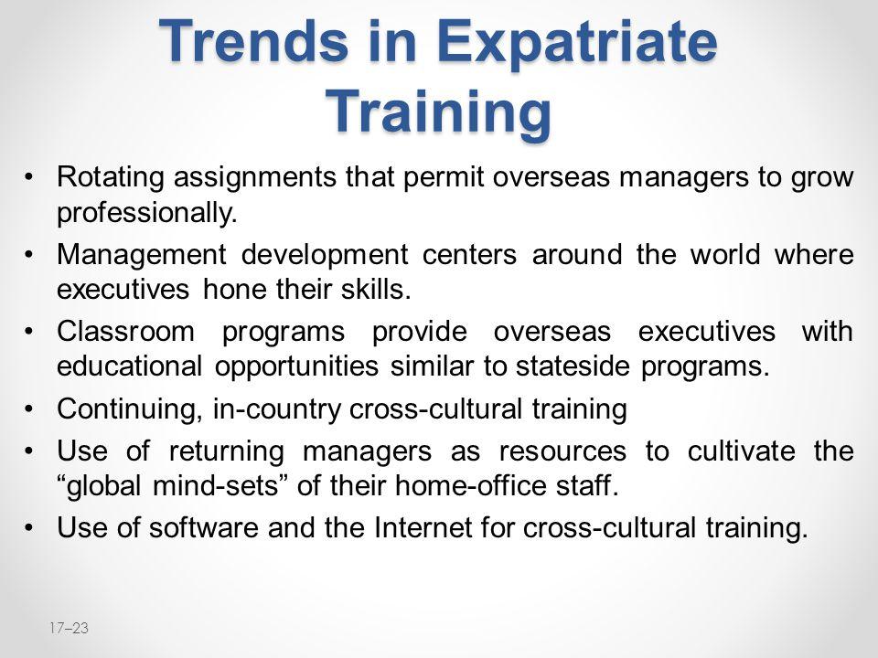 Trends in Expatriate Training