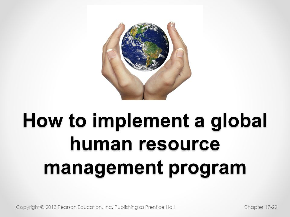 How to implement a global human resource management program