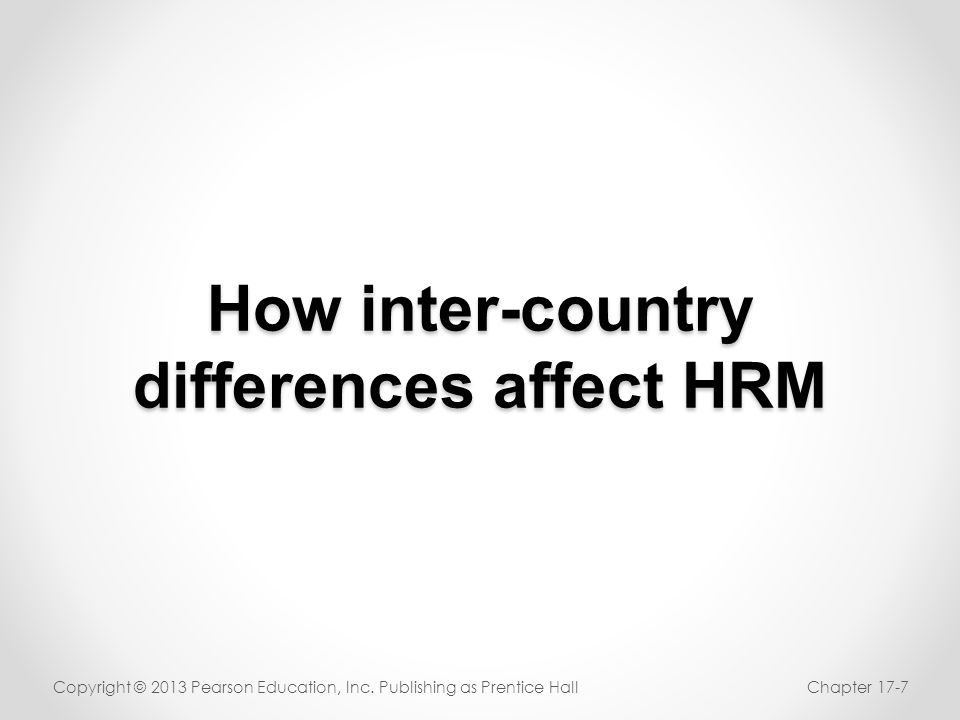 How inter-country differences affect HRM