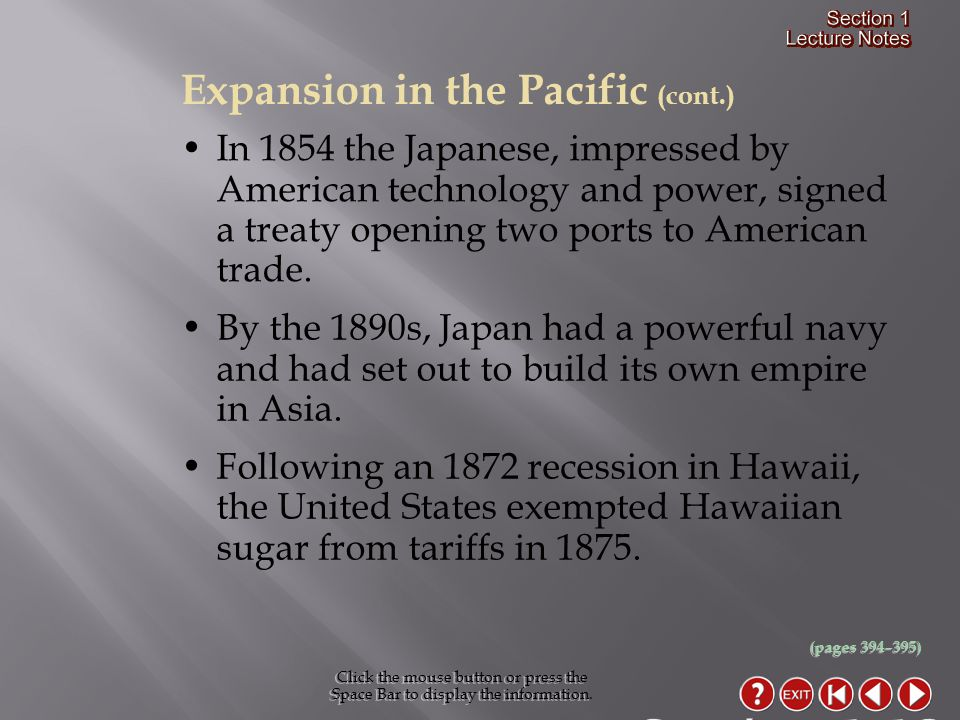 Section 1-12 Expansion in the Pacific (cont.)