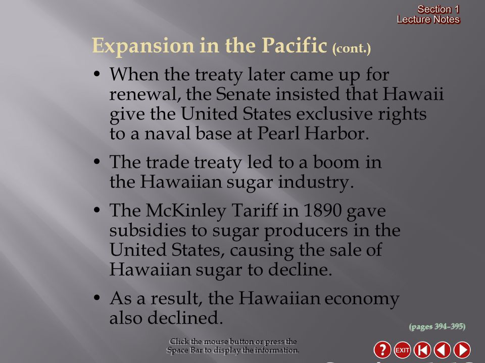 Section 1-13 Expansion in the Pacific (cont.)