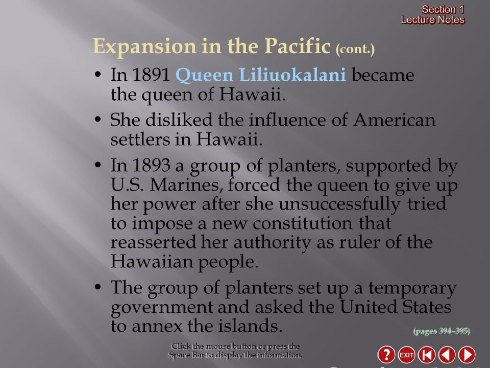 Section 1-14 Expansion in the Pacific (cont.)