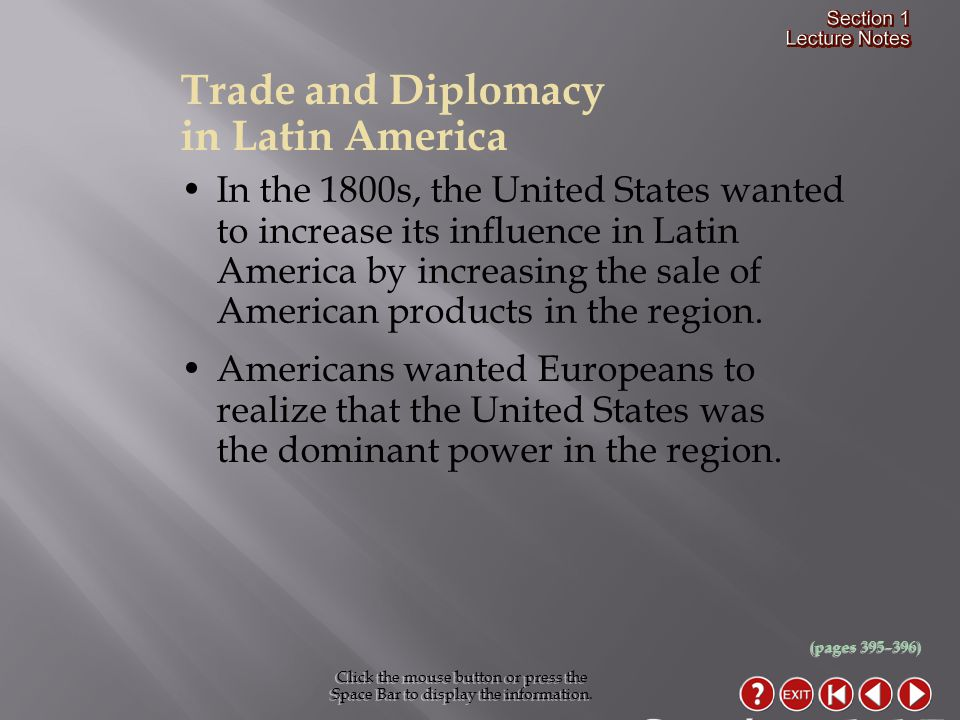 Section 1-17 Trade and Diplomacy in Latin America