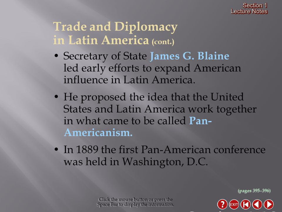 Section 1-18 Trade and Diplomacy in Latin America (cont.)