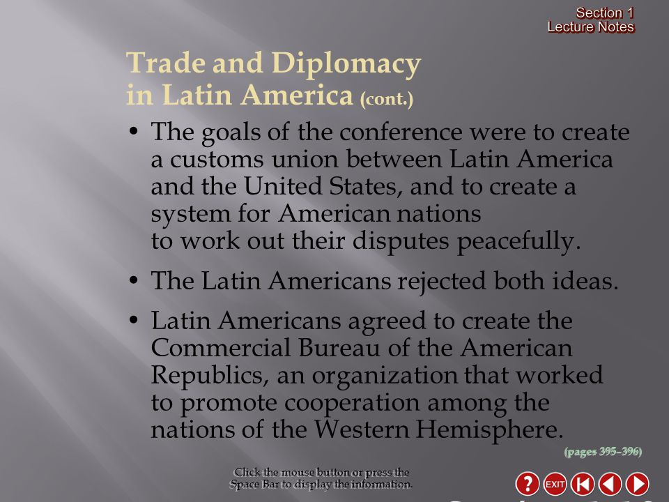 Section 1-19 Trade and Diplomacy in Latin America (cont.)