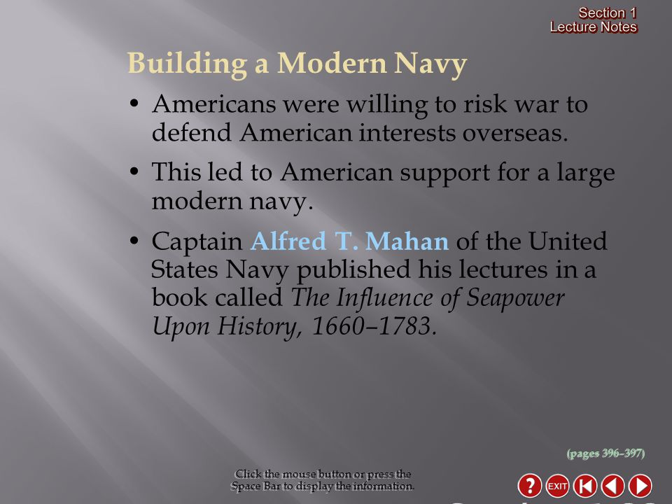 Section 1-22 Building a Modern Navy
