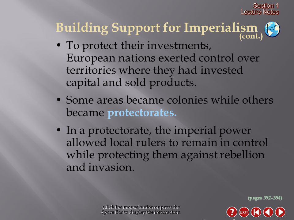 Section 1-6 Building Support for Imperialism