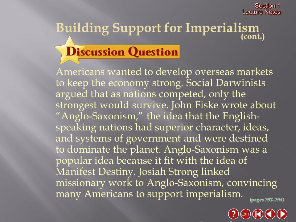 Section 1-10 Building Support for Imperialism