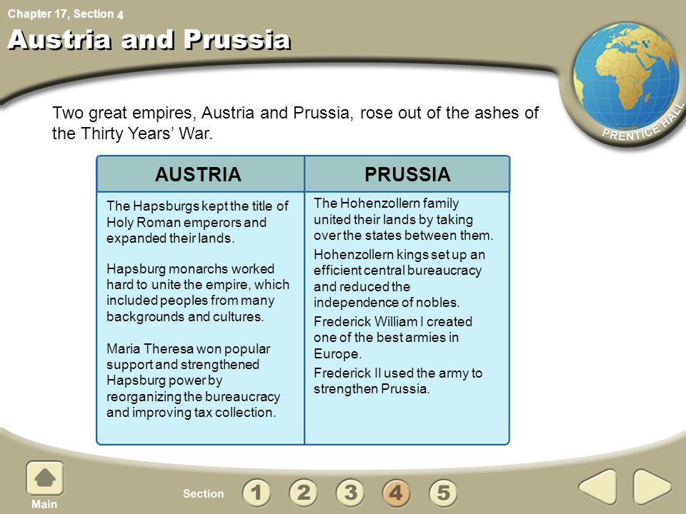 Austria and Prussia AUSTRIA PRUSSIA