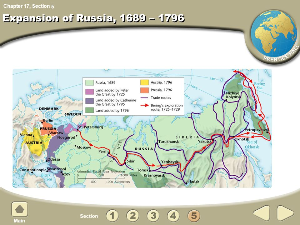 5 Expansion of Russia, 1689 – 1796