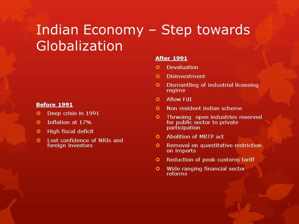 Indian Economy – Step towards Globalization
