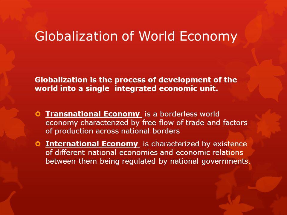 Globalization of World Economy