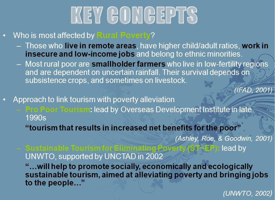 KEY CONCEPTS Who is most affected by Rural Poverty