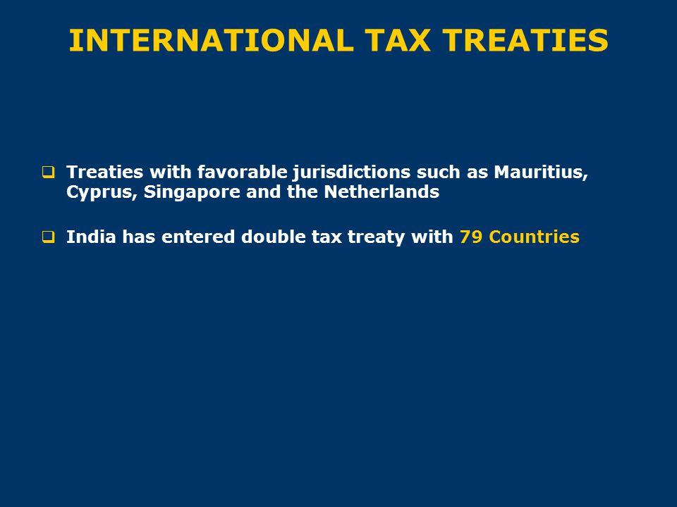 INTERNATIONAL TAX TREATIES
