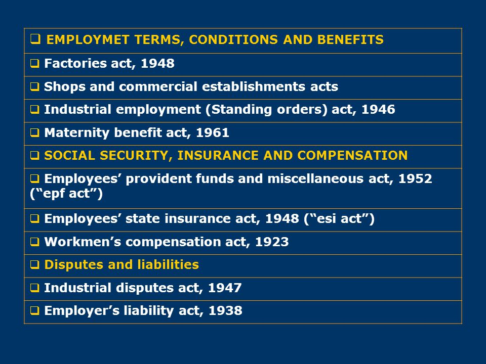 EMPLOYMET TERMS, CONDITIONS AND BENEFITS