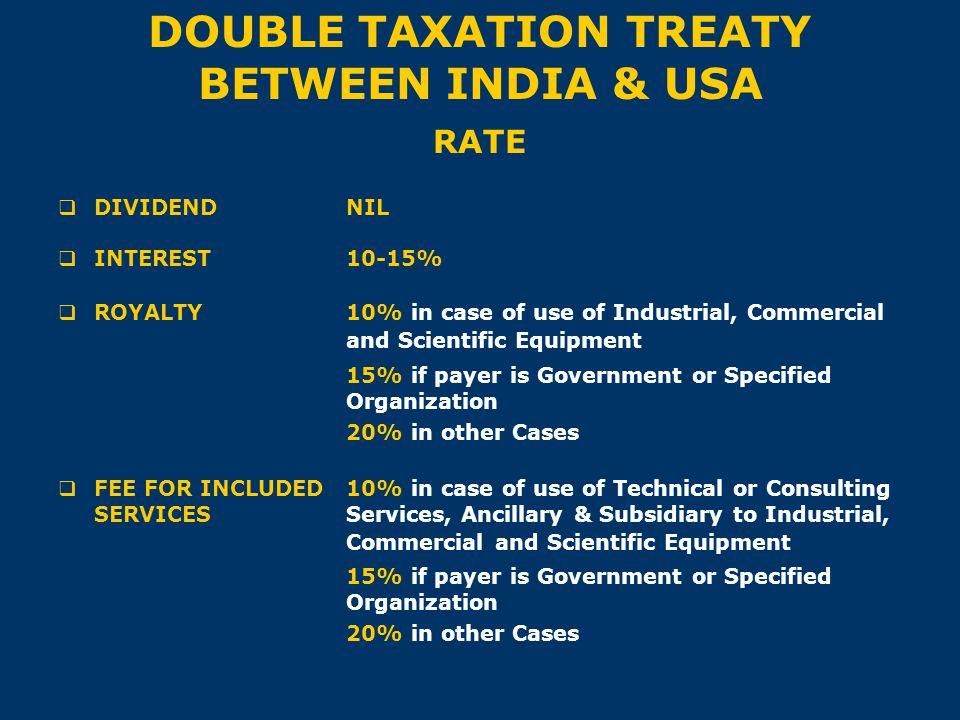 DOUBLE TAXATION TREATY BETWEEN INDIA & USA