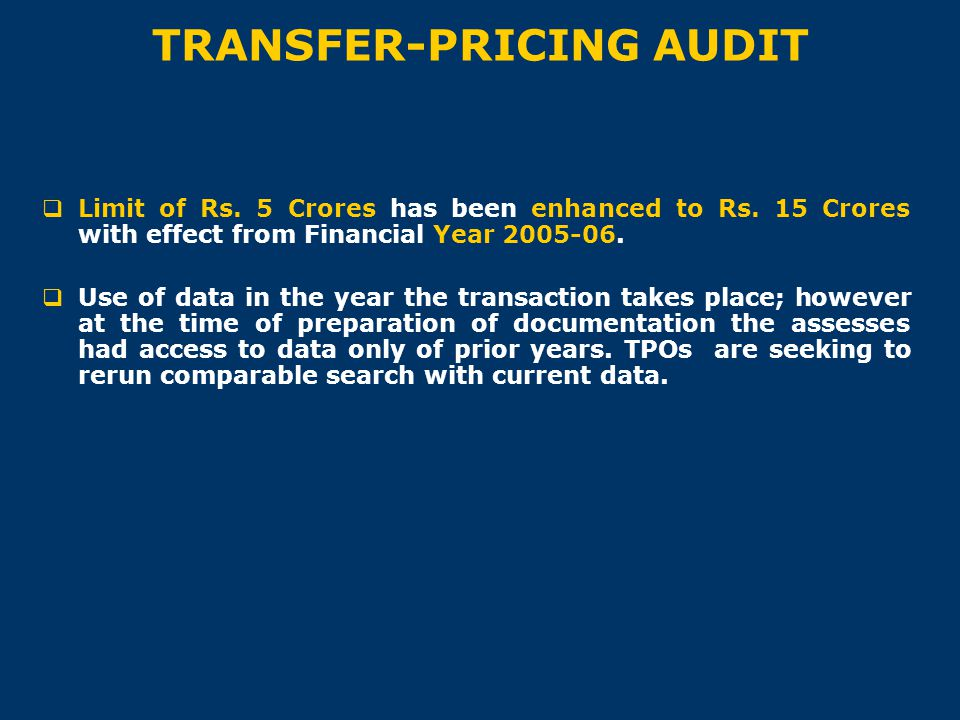 TRANSFER-PRICING AUDIT