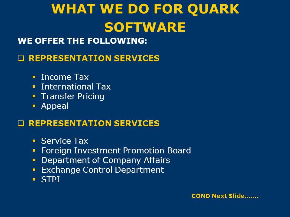 WHAT WE DO FOR QUARK SOFTWARE