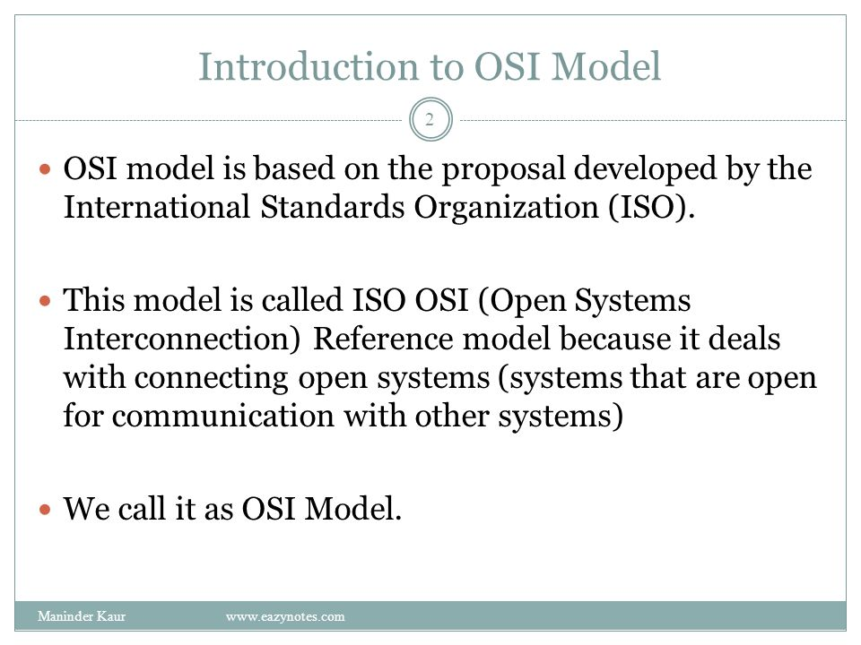 Introduction to OSI Model