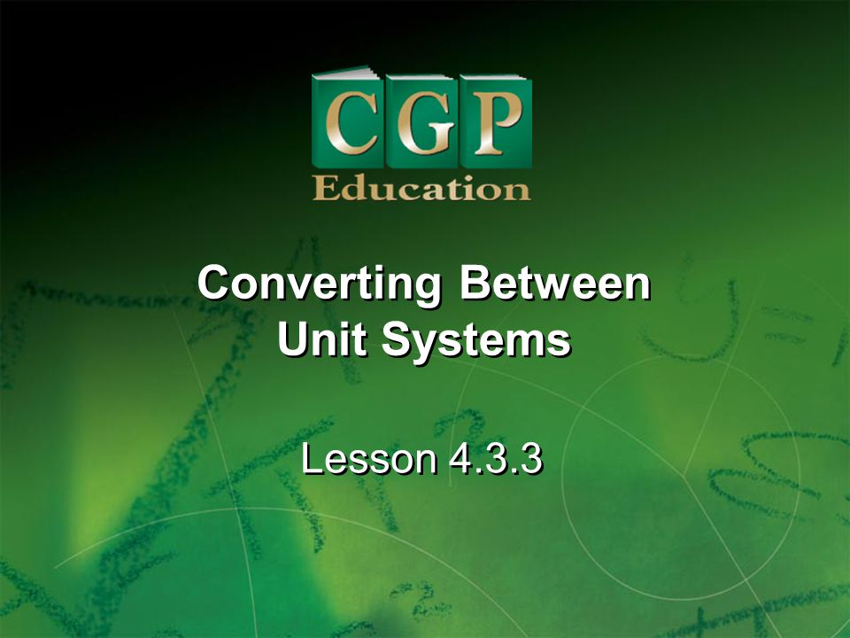Converting Between Unit Systems