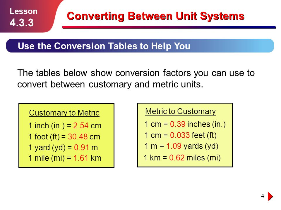 Converting Between Unit Systems - ppt download