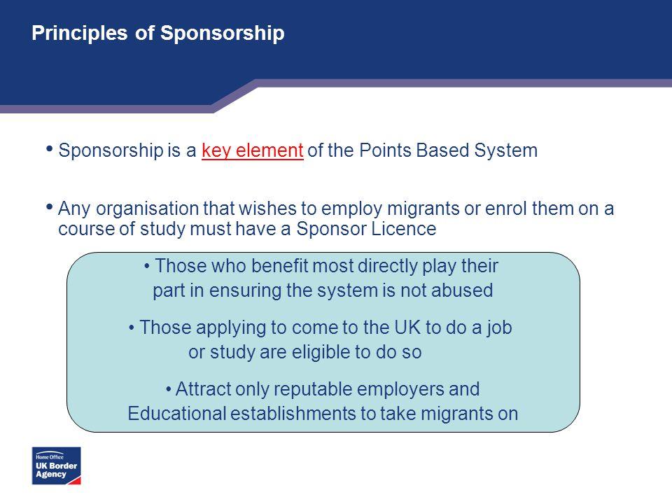 Principles of Sponsorship