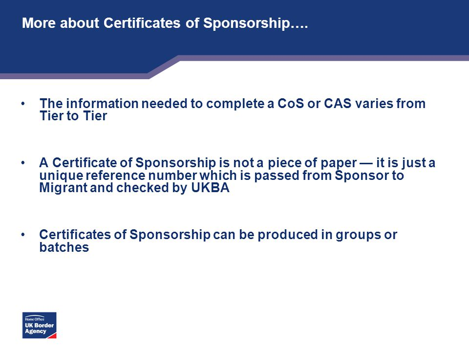 More about Certificates of Sponsorship….
