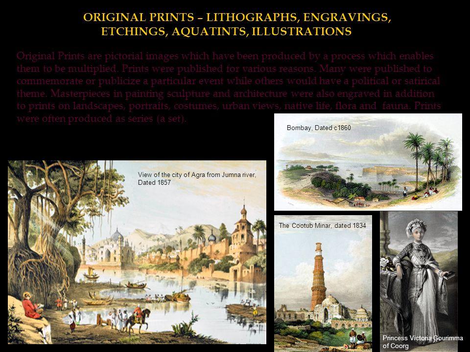 ORIGINAL PRINTS – LITHOGRAPHS, ENGRAVINGS,