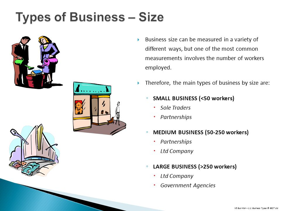 Types of Business – Size
