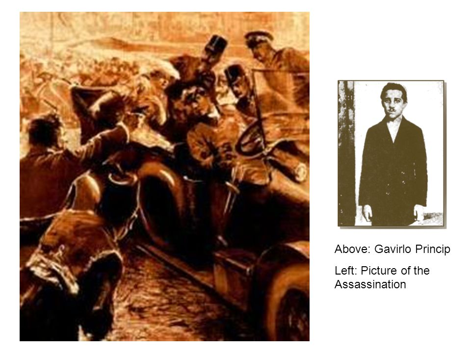 Above: Gavirlo Princip
