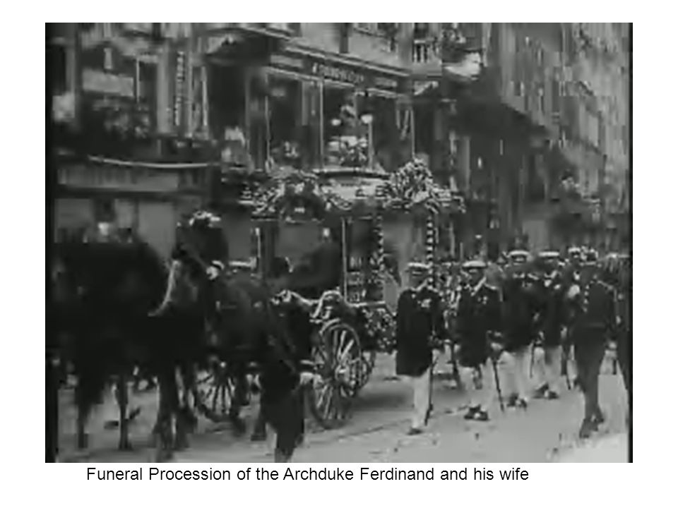 Funeral Procession of the Archduke Ferdinand and his wife