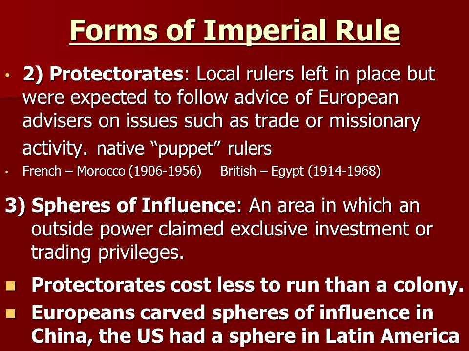 Forms of Imperial Rule