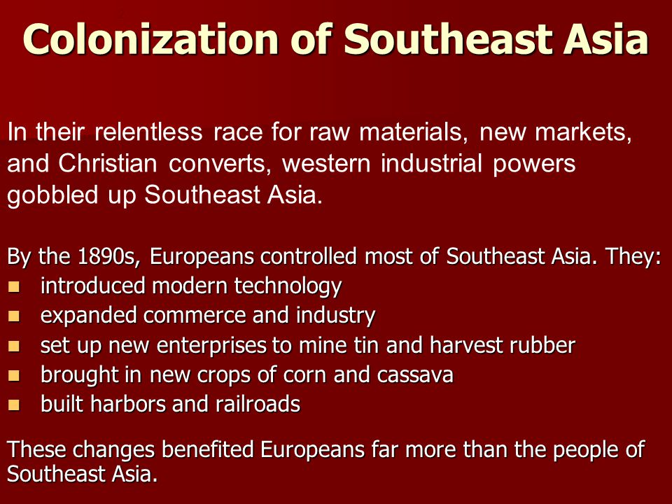 Colonization of Southeast Asia