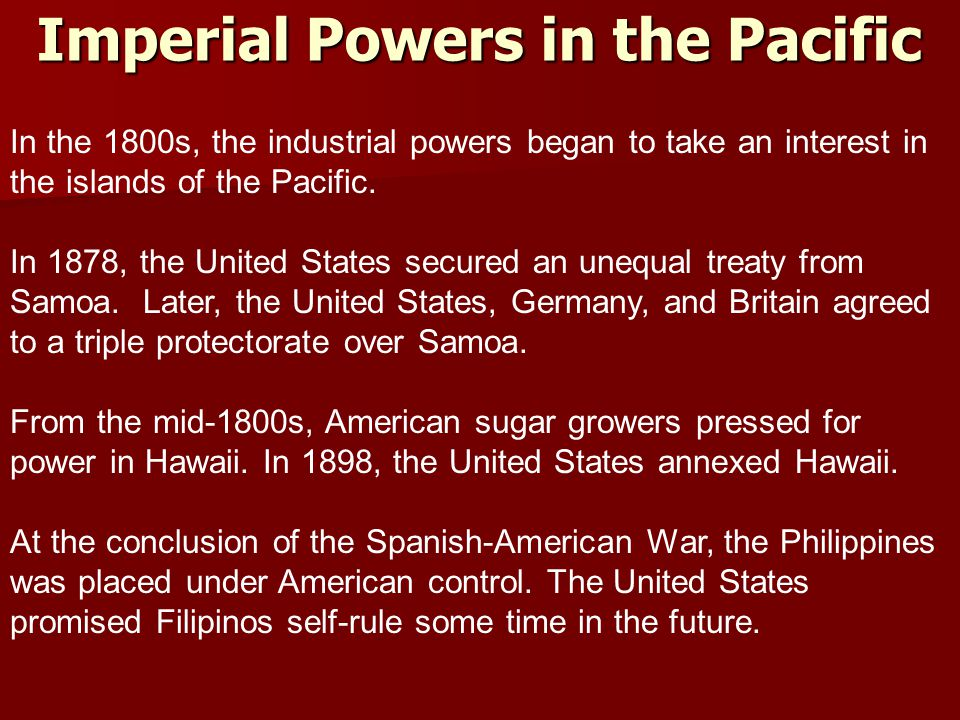 Imperial Powers in the Pacific