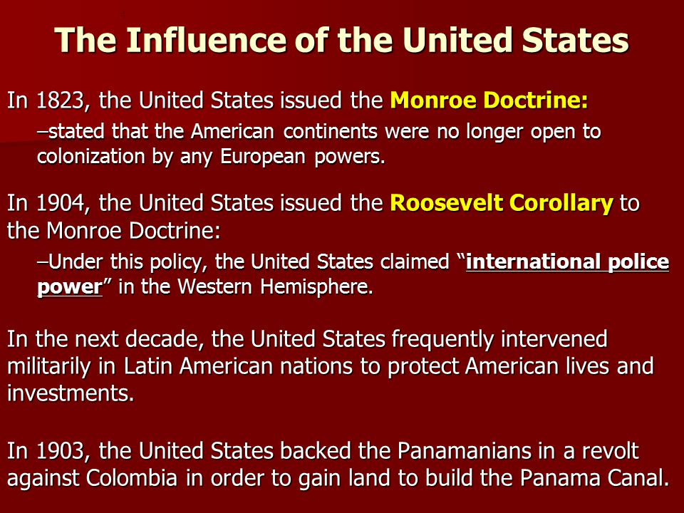 The Influence of the United States