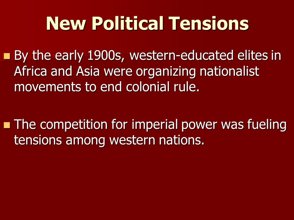 New Political Tensions