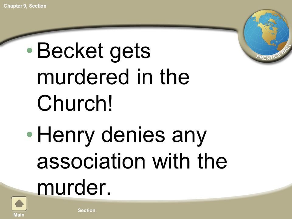 Becket gets murdered in the Church!