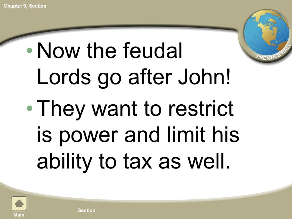 Now the feudal Lords go after John!