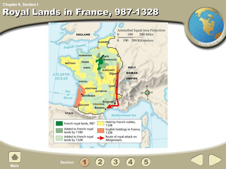 1 Royal Lands in France, 987-1328