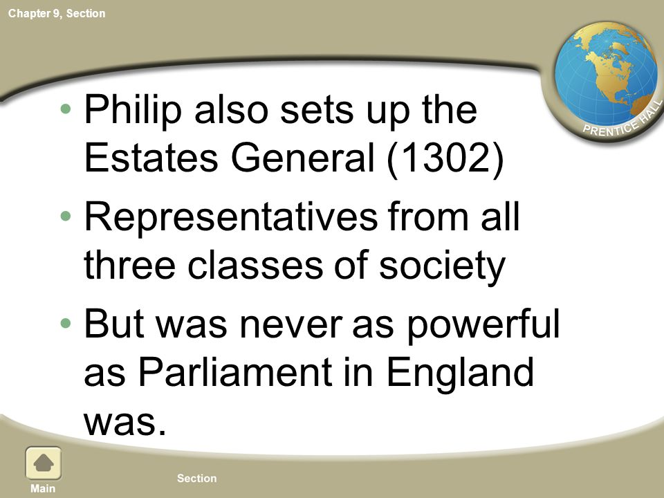 Philip also sets up the Estates General (1302)