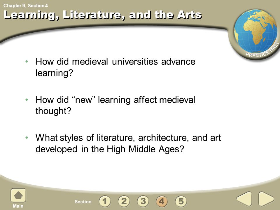 Learning, Literature, and the Arts