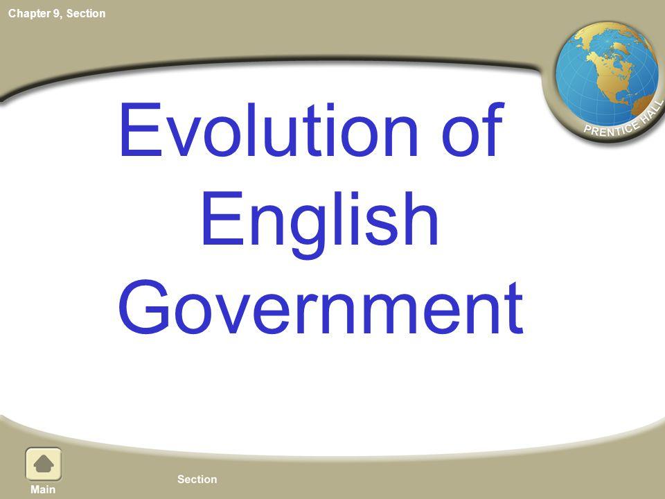 Evolution of English Government