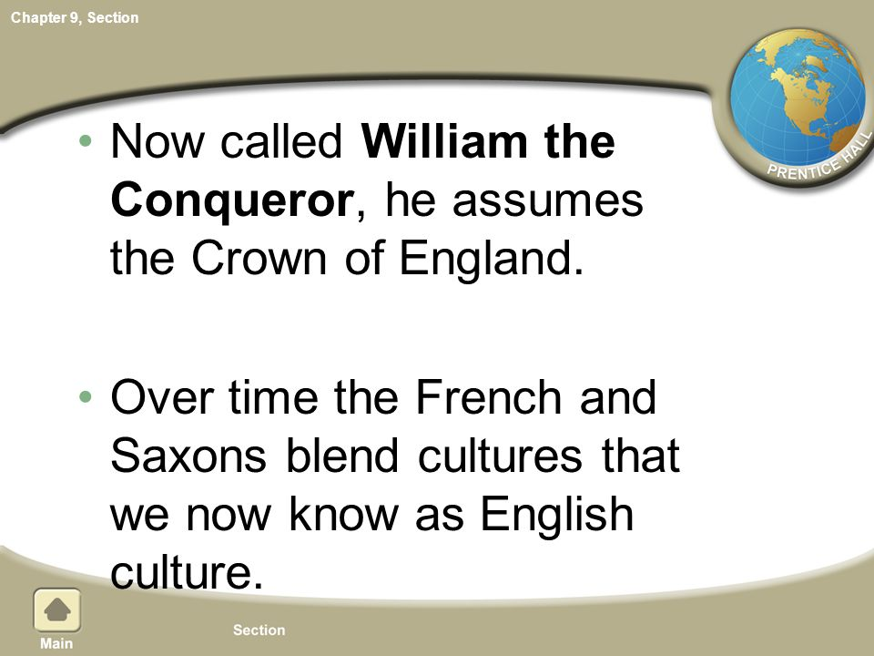 Now called William the Conqueror, he assumes the Crown of England.