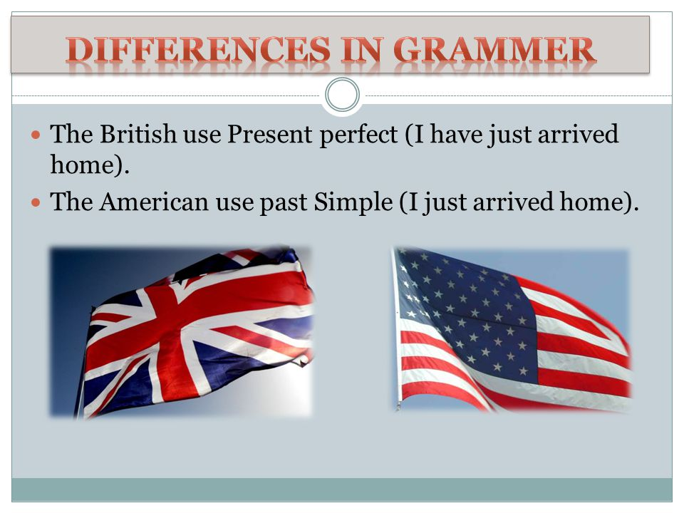 Differences in grammer