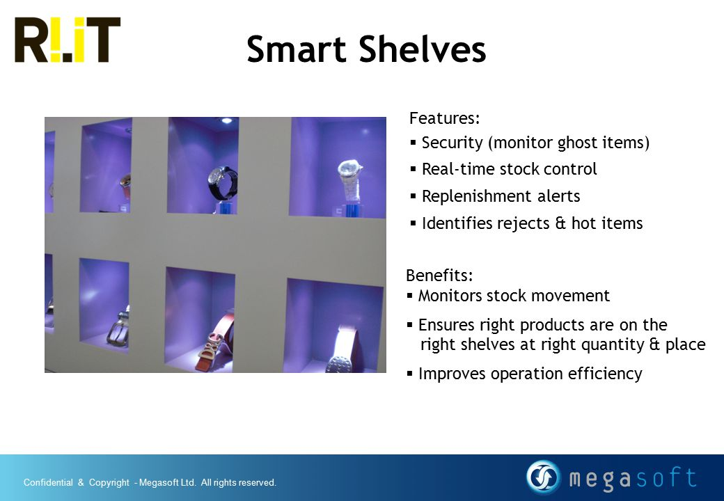 Smart Shelves Features: Security (monitor ghost items)