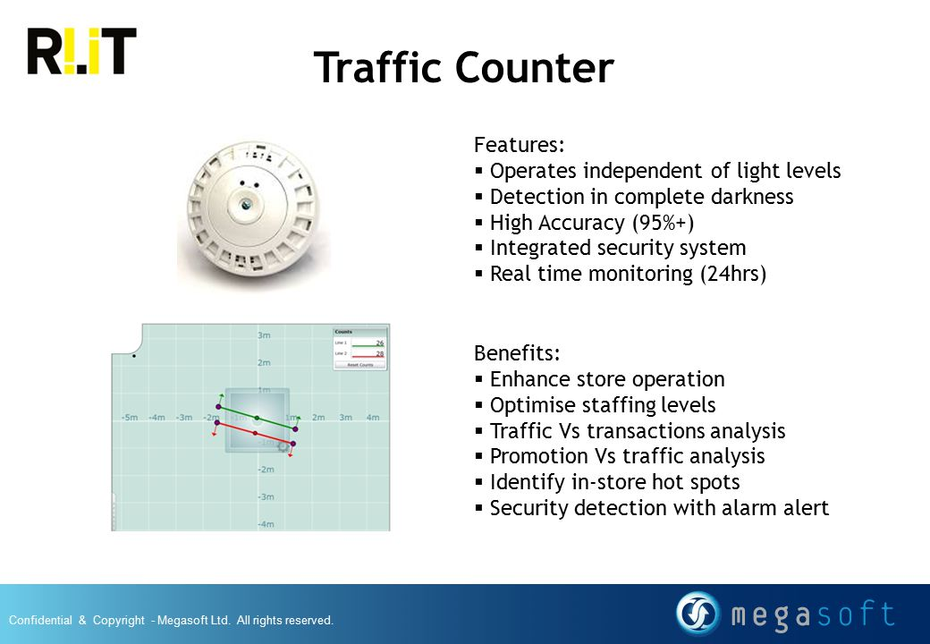 Traffic Counter Features: Operates independent of light levels