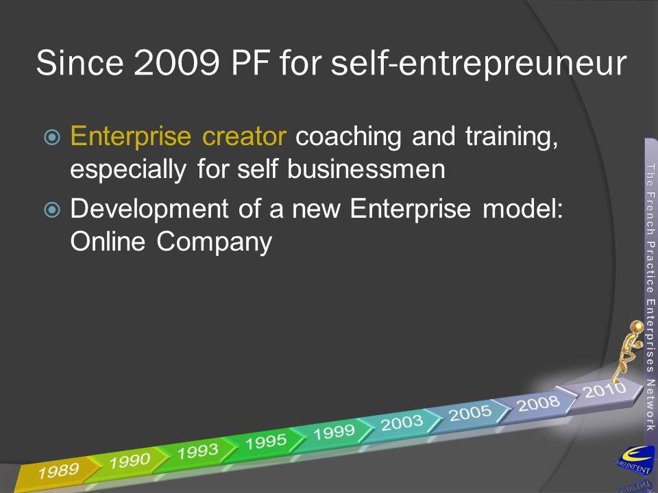 Since 2009 PF for self-entrepreuneur