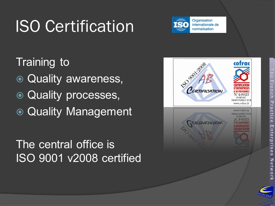 ISO Certification Training to Quality awareness, Quality processes,